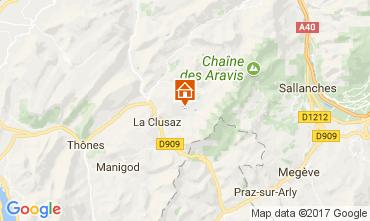 Mapa La Clusaz Chalet 112531