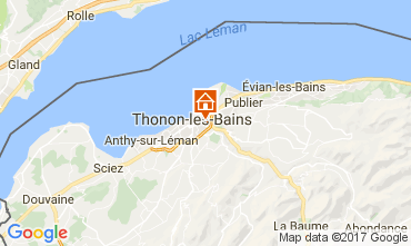Mapa Thonon Les Bains Apartamento 110536