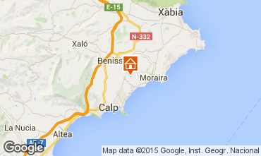 Mapa Benisa Bungalow 54771