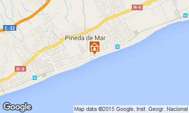 Mapa Pineda de Mar Apartamento 97967