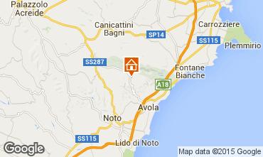 Mapa Avola Villa 64759