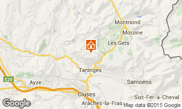 Mapa Praz de Lys Sommand Chalet 43637