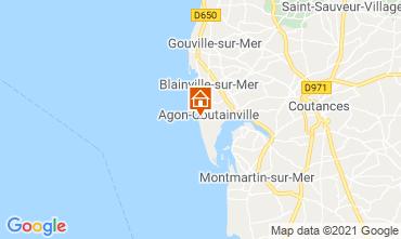 Mapa Agon-Coutainville Villa 15234