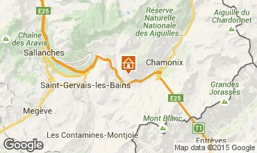 Mapa Chamonix Mont-Blanc Chalet 1405