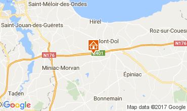 Mapa Dol-de-Bretagne Casa rural 101612