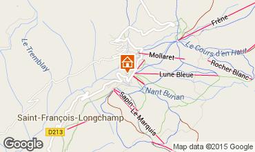 Mapa Saint François Longchamp Apartamento 73700