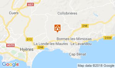 Mapa Hyères Villa 98154