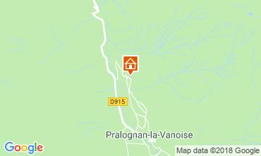Mapa Pralognan la Vanoise Casa rural 45684