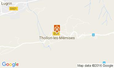 Mapa Thollon Les M�mises Apartamento 29378