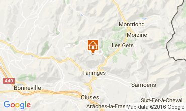 Mapa Praz de Lys Sommand Chalet 2355