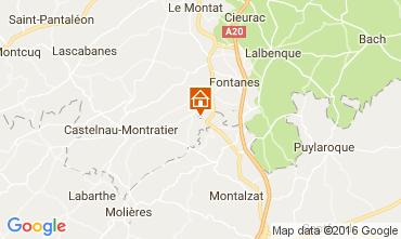 Mapa Cahors Casa rural 91524