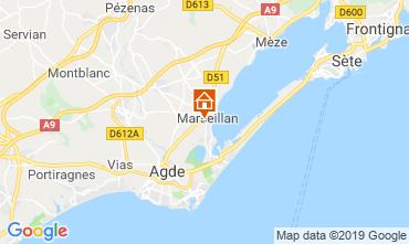Mapa Marseillan Villa 102556