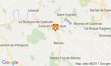 Mapa Siorac-en-Perigord Casa 108951