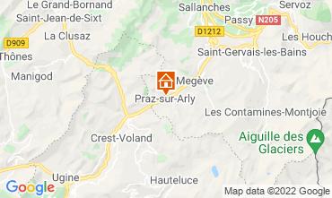 Mapa Praz sur Arly Apartamento 2299
