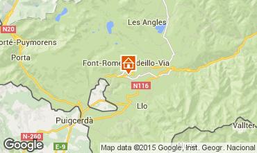 Mapa Font Romeu Chalet 101606