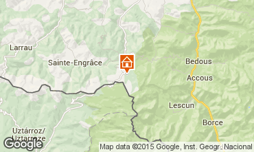 Mapa Arette La Pierre Saint Martin Apartamento 100836