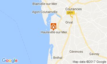 Mapa Hauteville-sur-Mer Casa rural 40949