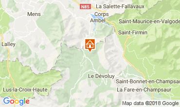 Mapa Superdévoluy- La Joue du Loup Casa 112275