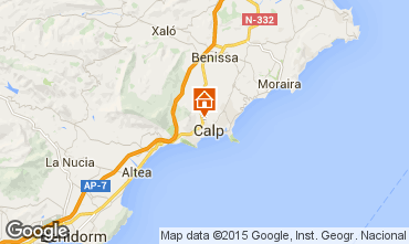Mapa Calpe Bungalow 27961