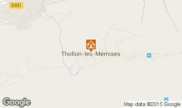 Mapa Thollon Les Mémises Apartamento 27888