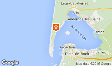 Mapa Cap Ferret Villa 9409
