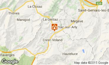 Mapa Flumet Val d'Arly Apartamento 1309