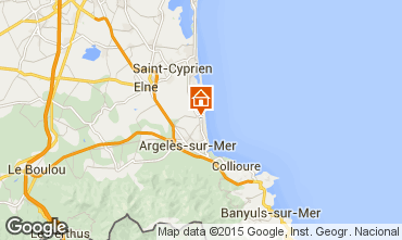 Mapa Argeles sur Mer Apartamento 61442
