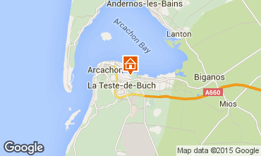 Mapa Arcachon Casa 6632
