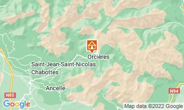 Mapa Orci�res Merlette Casa rural 81230