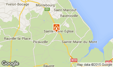 Mapa Sainte-M�re-�glise Casa rural 74253