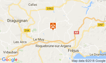 Mapa Roquebrune sur Argens Villa 115161