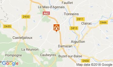 Mapa Casteljaloux Casa rural 113847