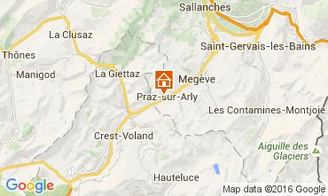 Mapa Praz sur Arly Estudio 2300