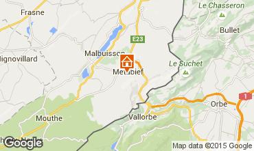 Mapa Métabief Casa rural 74220