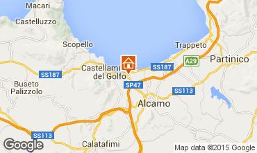 Mapa Castellammare del Golfo Villa 32448