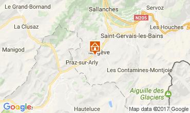 Mapa Megève Apartamento 1524