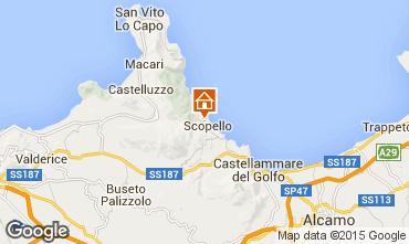 Mapa Scopello Villa 65215