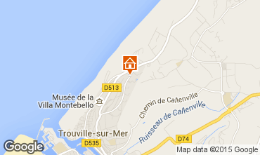 Mapa Trouville sur Mer Estudio 10805