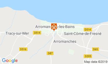 Mapa Arromanches Casa rural 90681