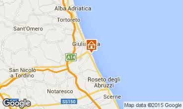 Mapa Roseto degli Abruzzi Apartamento 48432