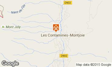 Mapa Les Contamines Montjoie Casa 73415