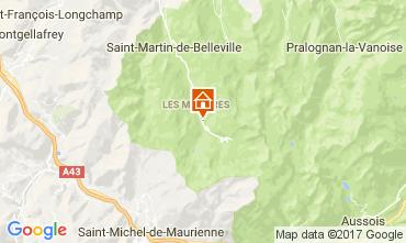 Mapa Les Menuires Apartamento 1606