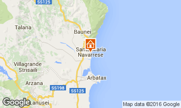 Mapa Santa Maria Navarrese Apartamento 40493