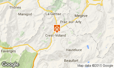 Mapa Crest Voland Cohennoz Chalet 1130