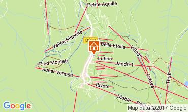 Mapa Les 2 Alpes Apartamento 111845