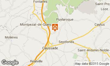 Mapa Montauban Casa rural 84100