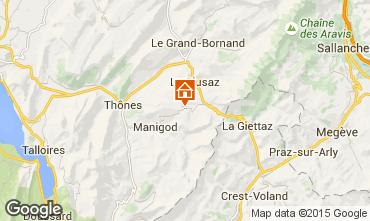 Mapa La Clusaz Apartamento 28042