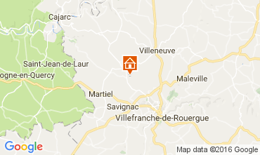 Mapa Villefranche de Rouergue Apartamento 105281