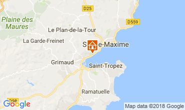 Mapa Saint Tropez Casa 93909
