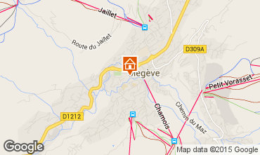 Mapa Megève Apartamento 1507